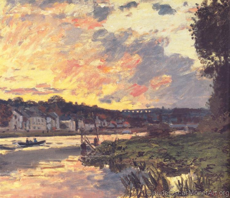 The Seine at Bougival in the Evening
