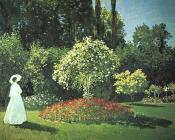 Claude Oscar Monet : Jeanne-Marguerite Lecadre in the Garden