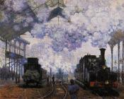 Claude Oscar Monet : Arrival at Saint-Lazare Station