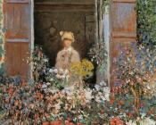 Camille Monet at the Window, Argentuil