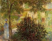 Camille Monet in the Garden at the House in Argenteuil