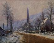 Church at Jeufosse, Snowy Weather