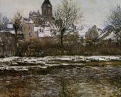 Church at Vetheuil, Snow