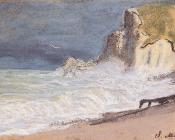 Etretat, Amont Cliff, Rough Weather