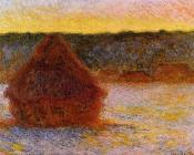Grainstack at Sunset, Winter