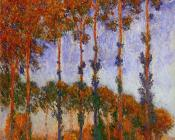 Poplars on the Banks of the River Epte, Sunset