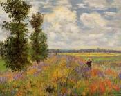 Claude Oscar Monet : Poppy Field, Argenteuil
