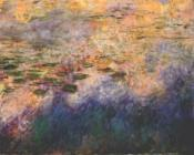 Reflections of Clouds on the Water-Lily Pond, Center Panel