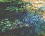 Reflections of Clouds on the Water-Lily Pond, Left Panel